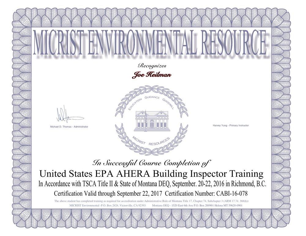 Joe Heilman AHERA Certificate.jpg