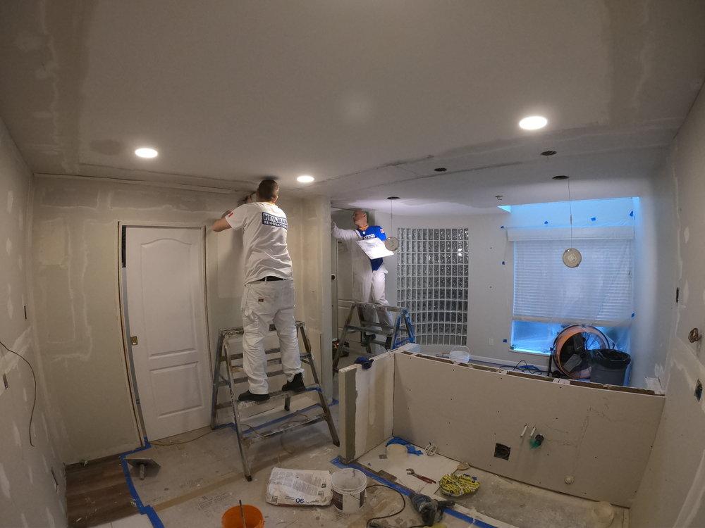 Drywall mudding and ceiling repair