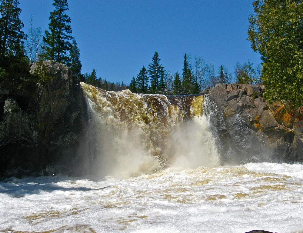Illgen Falls on the Baptism River, Tettegouche State Park