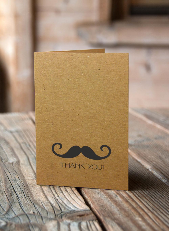 Mustache Thank You Cards Set Of 10 Alexis Scott Designs