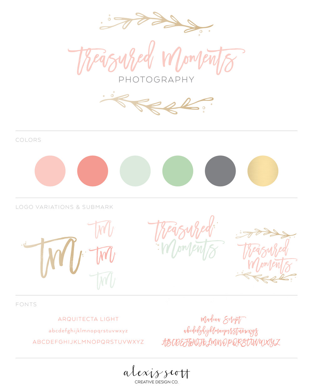 custom branding design alexis scott designs