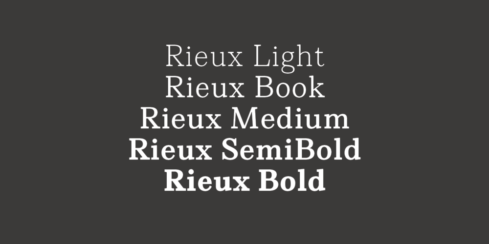 Rieux Font Family