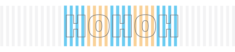 Sequence of H's and O's that are designed to occupy the same multiple of basic units. Each character starts on a stripe and ends on a space.
