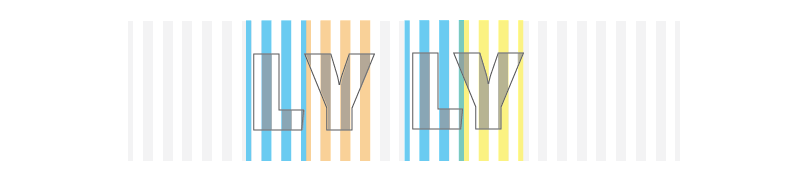 The LY pair on the left is not kerned and the pair on the right is. You can see that the Y moves in a stripe's width and then is replaced with its alternate form. TextTile only has 13 kerning offsets defined. Of those, only 5 are related to letter/letter pairs; the rest pertain to combinations with numbers and punctuation.