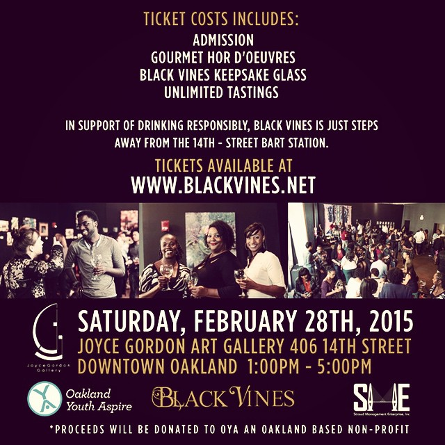 Plan accordingly! Black Vines a toast to black wine and diverse art 2.28.15 #winewednesday #blackhistorymonth