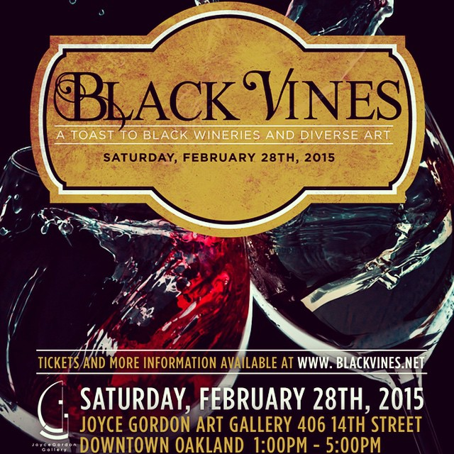 Cheers! #winewednesday 2.28.15 We celebrate black wine and diverse art! #Oakland