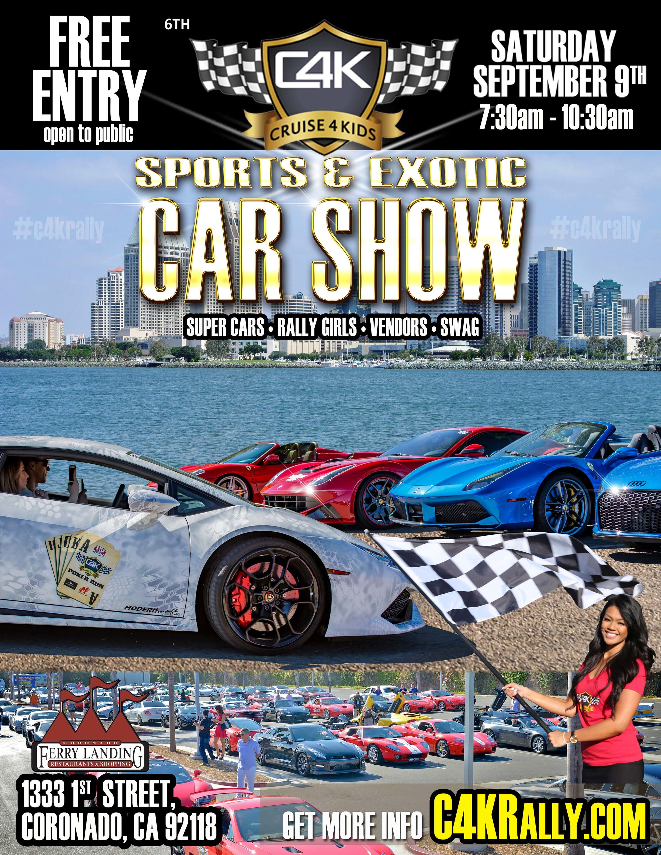 CAR EVENTS CRUISE KIDS - Car show promotional items