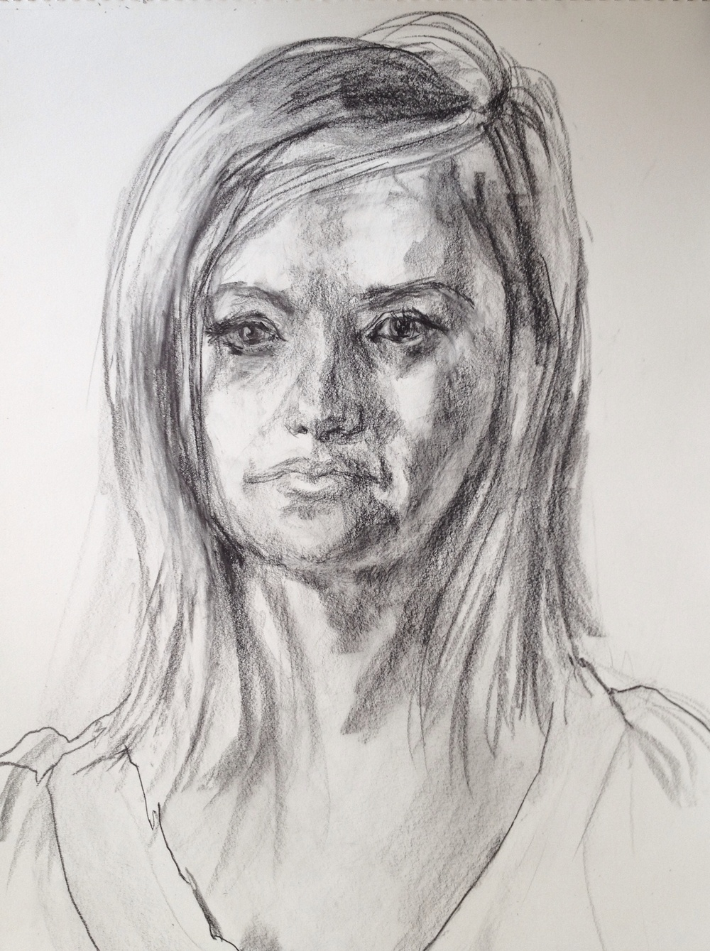 Andrea, 30-minute live drawing, 18 x 24
