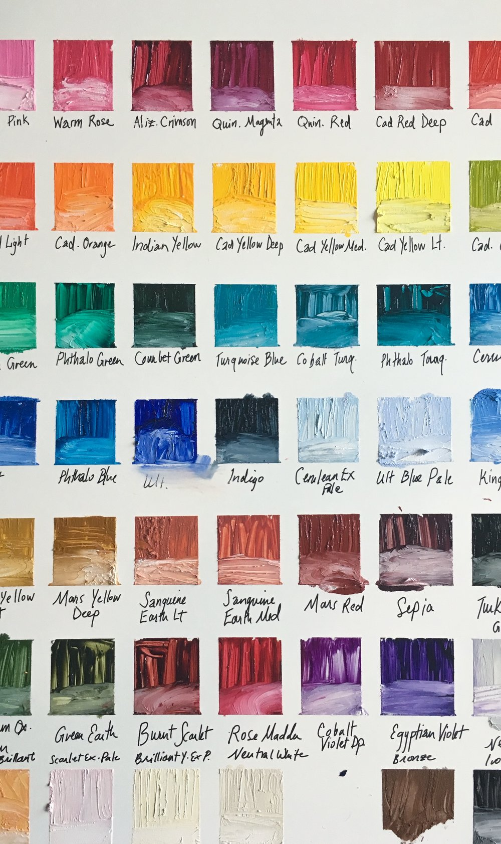 R And F Pigment Stick Color Chart Melissa Carmon