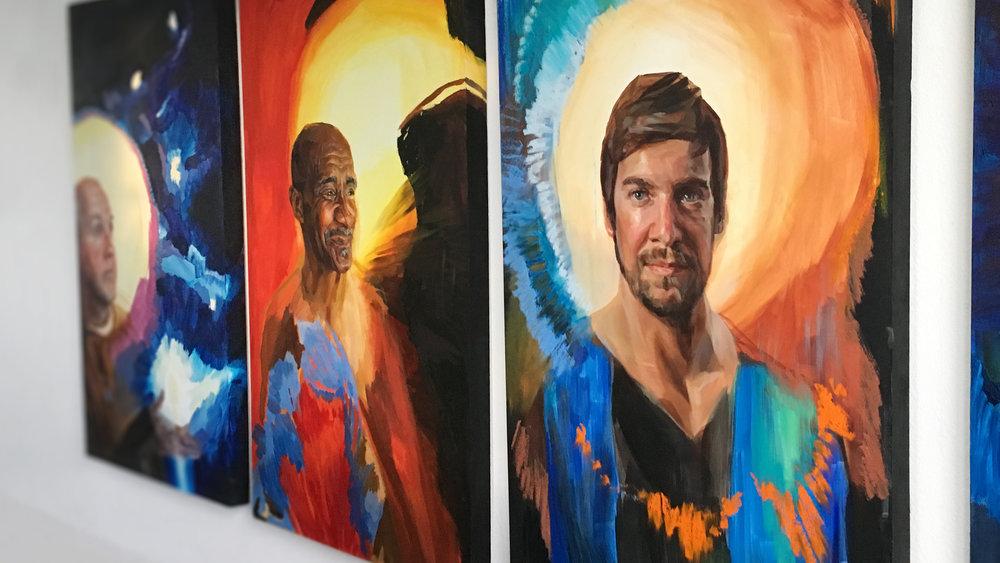 Melissa Carmon Art Paintings Saint Series