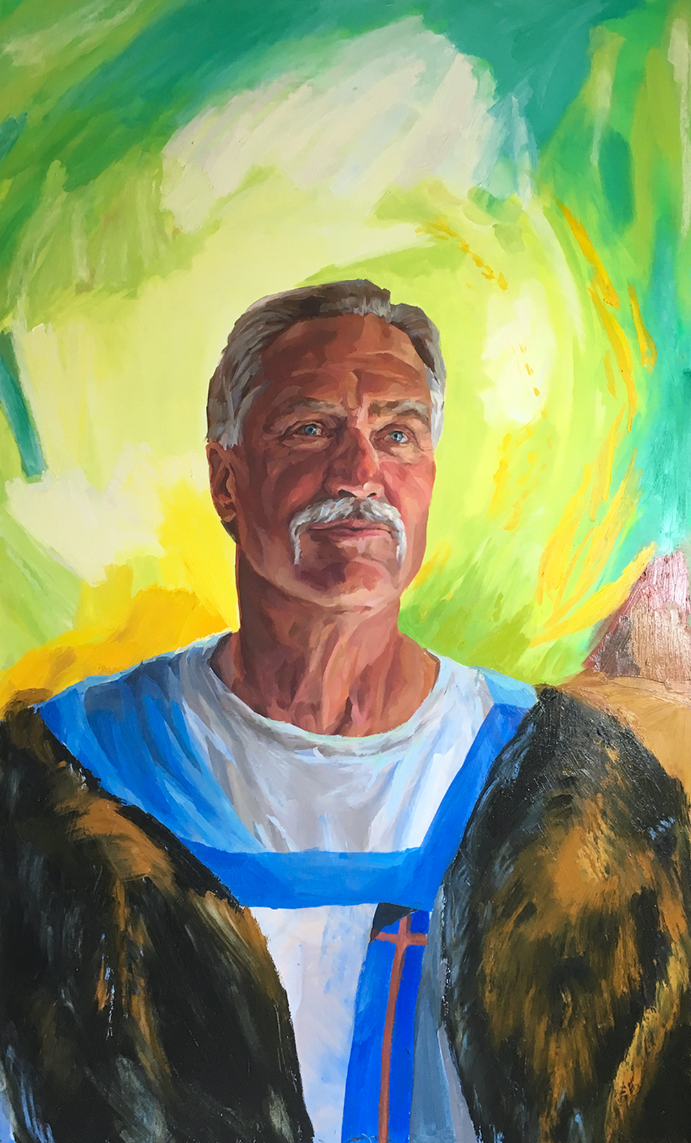"Pope St. Leo I (The Great), 35"" x 60,"" Oil on Panel, by Melissa Carmon"