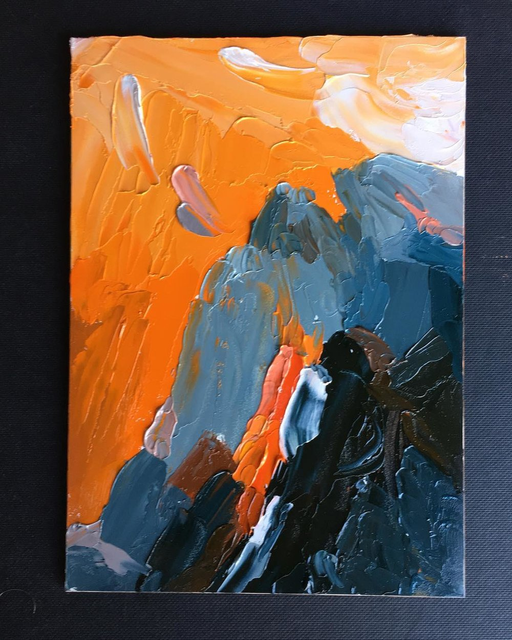 Though the Way is Steep   Oil on Panel