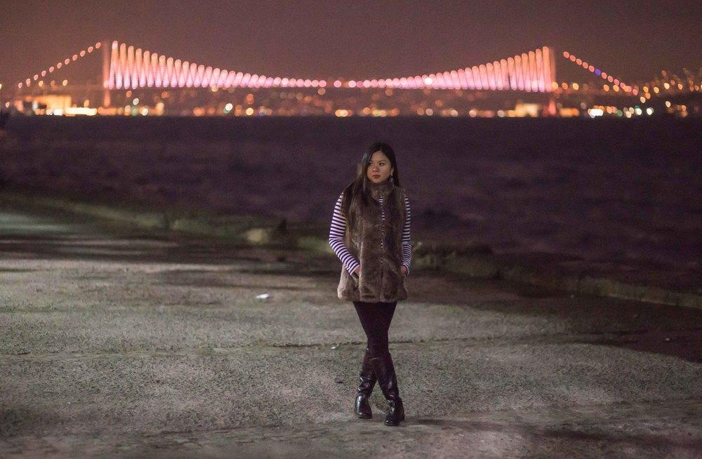 20140114-IMG_2092-Donna and Bosporus bridge.jpg