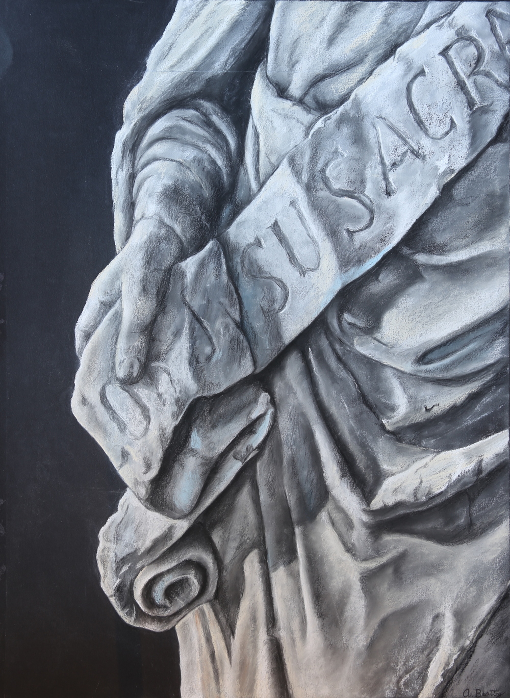 Alex Beatty - Study of Classical Statue - Chalk Pastel 22x20-.JPG
