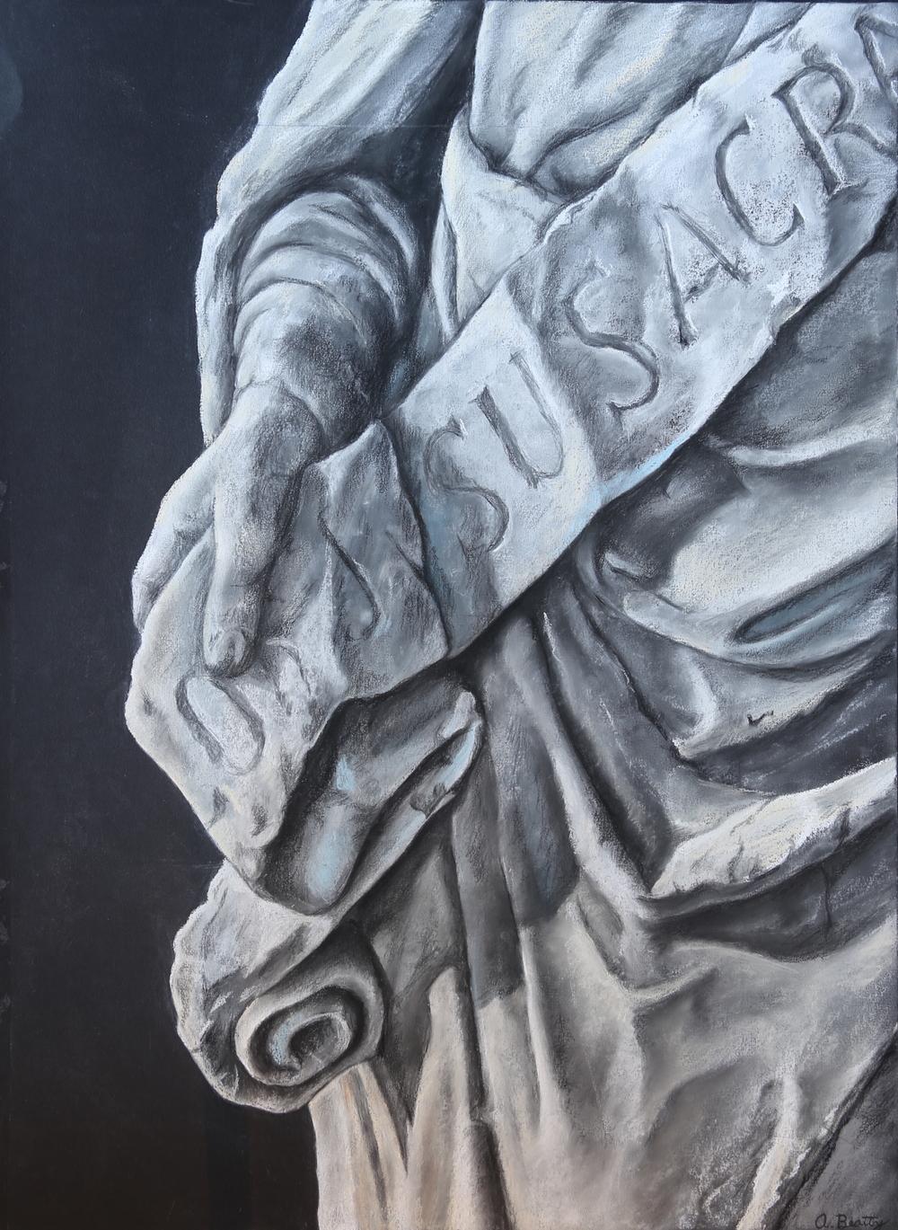 Alex Beatty - Study of Classical Statue - Chalk Pastel 22x20-.JPG