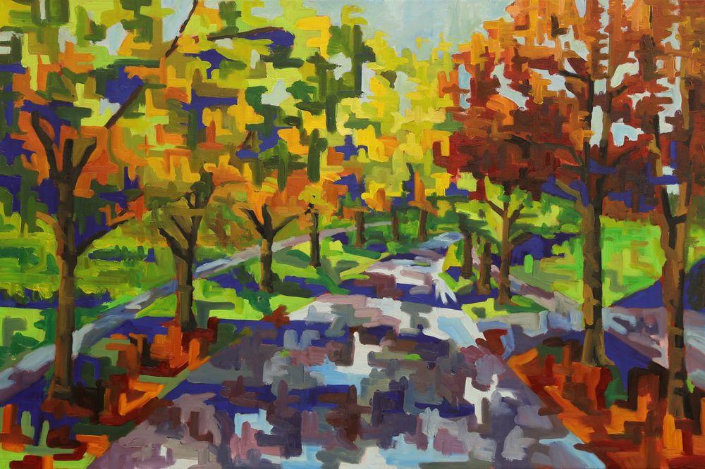 Michael Perry - Fall Road - 18 x 24.jpg