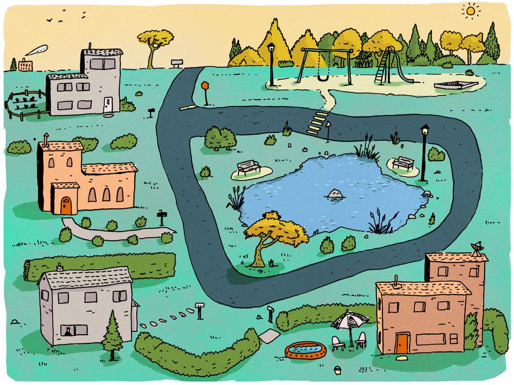 Pondsville Map