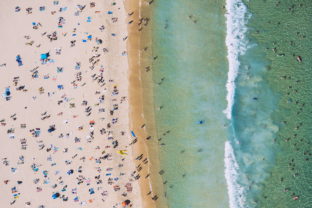 Bondi Beach from 300 feet - NSW
