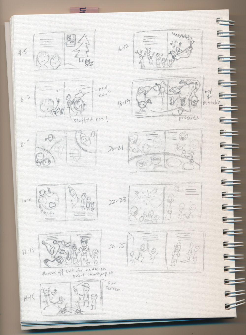 thumbnail sketches for TBS