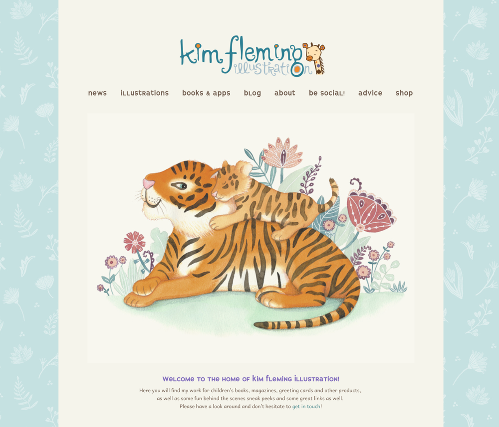 new landing image & matching background pattern on my home page