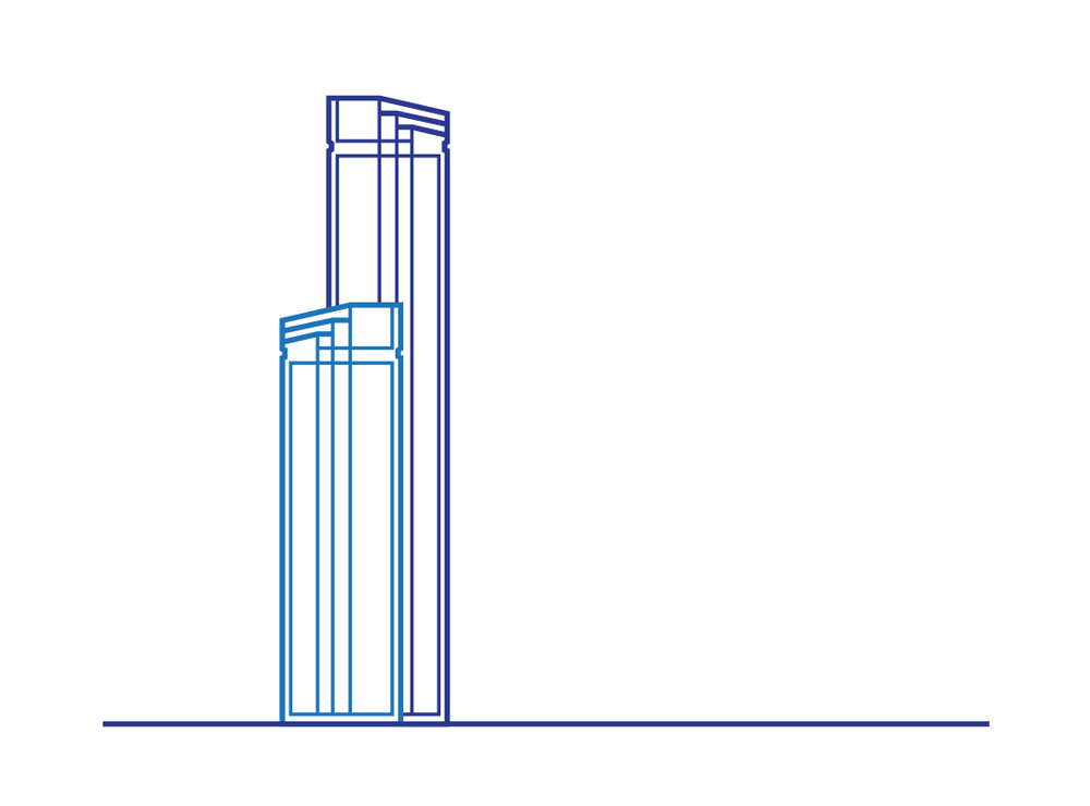Icon design of the Rialto Towers