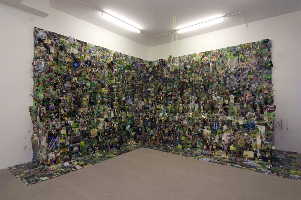The Joy Spreader is an installation piece where everything thats green goes in