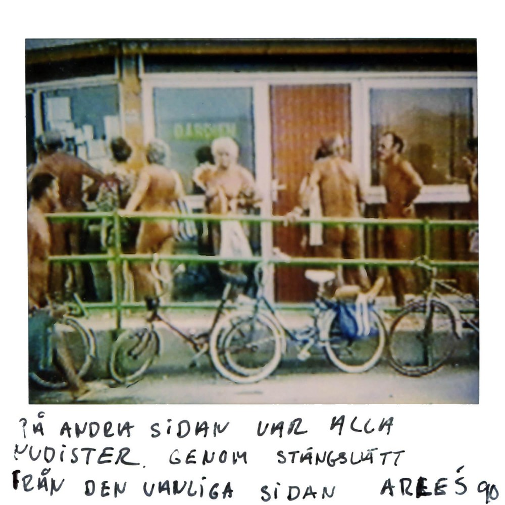 On the other side everybody was nudists..This picture was taken though the fence from our side  Arles 90