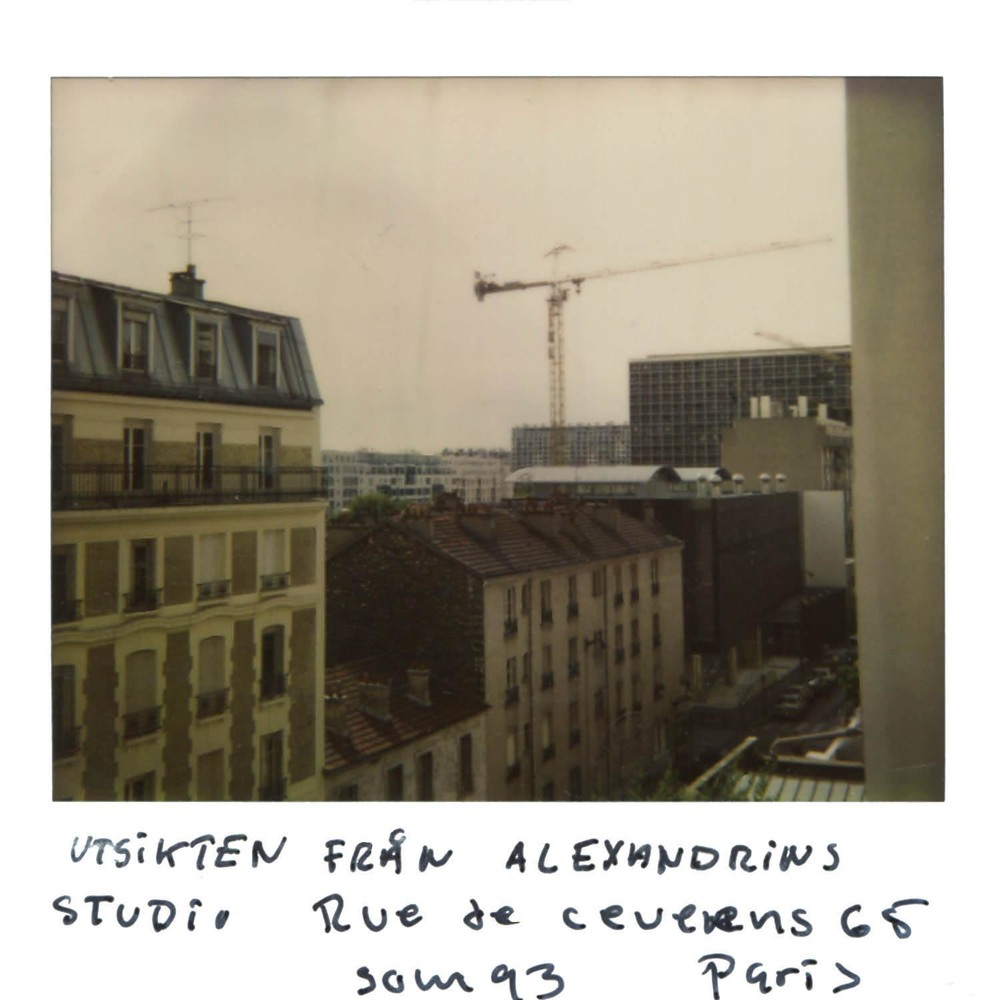 The view from Alexandrines studio at  Rue de Ceveens 65 , summer  in Paris   -Paris