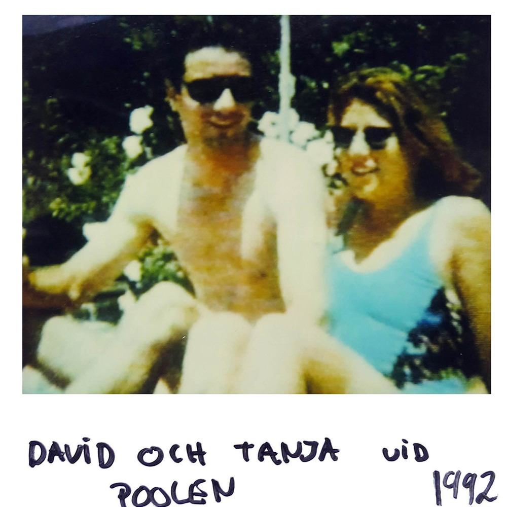 David and Tanja by the pool  1992