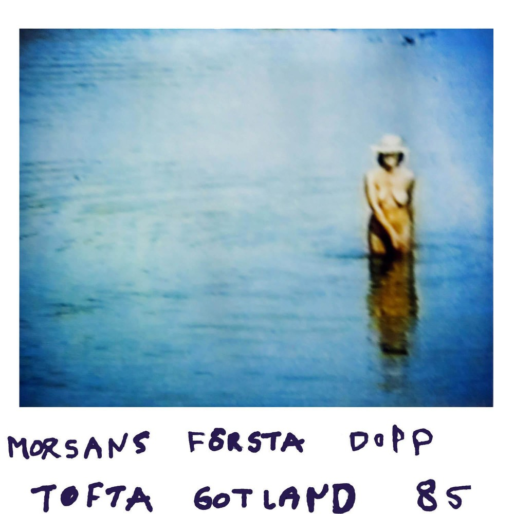 Mums first dip at   Tofta Gotland  -85