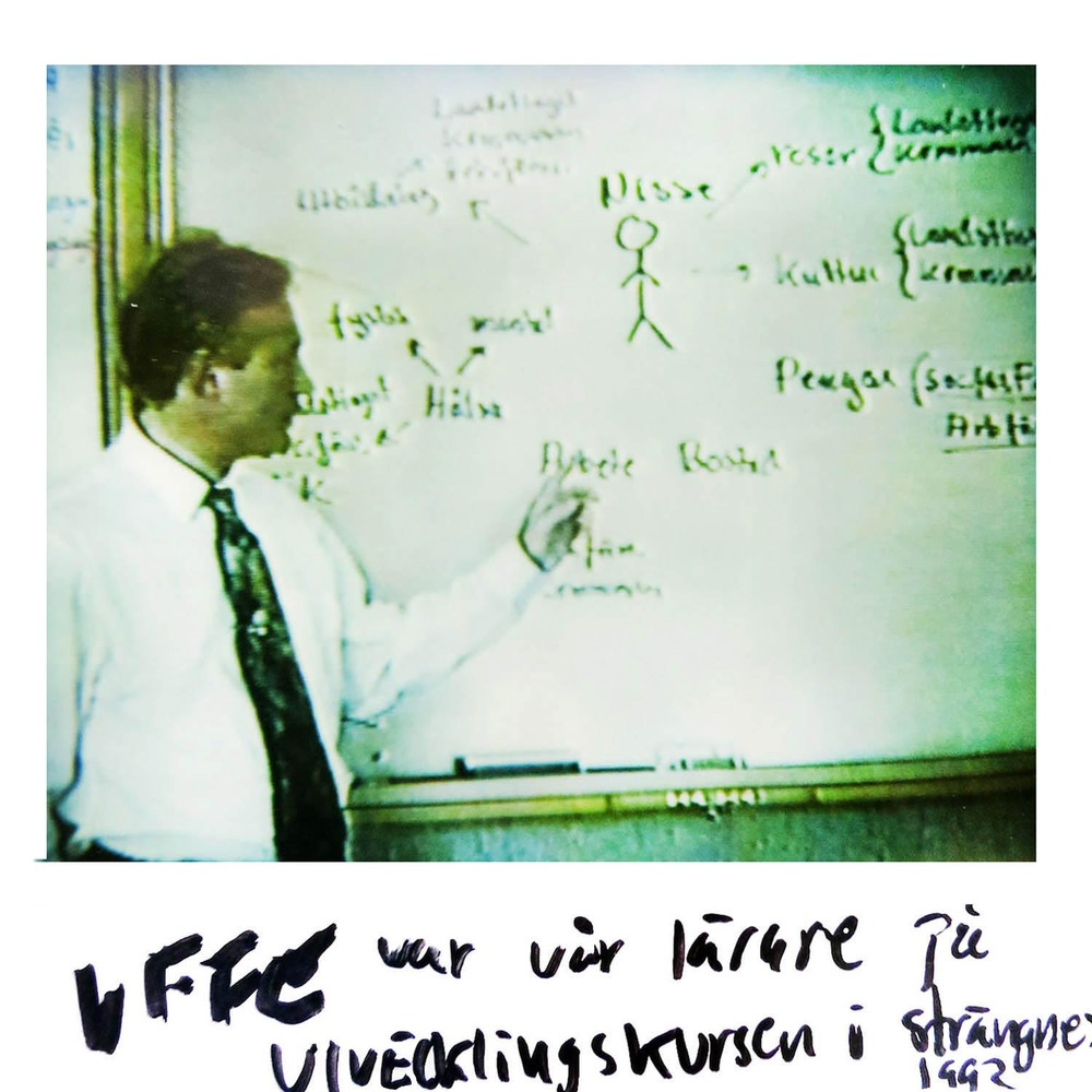 Uffe was our teacher at the development course in Strängnäs   1992