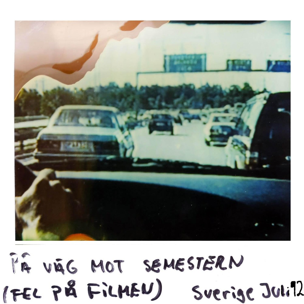 On the way to the holiday  (something was wrong with the film )  Sweden July - 92