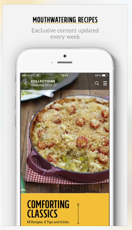 6 useful and free cooking apps for the iphoneipad irepairs harlow famous chef jamie oliver provides his own app of recipes on the app store every monday users of the free app will have access to 15 free recipes forumfinder Choice Image