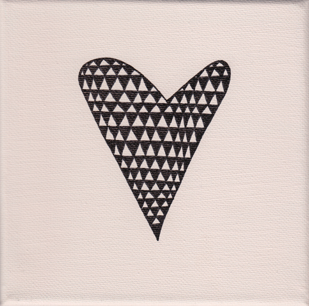 """heart triangle"", rosé, 15x15cm, € 24,-"
