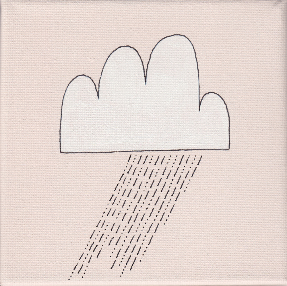 """""""rain"""", rosé, 15x15cm, € 24,-"""