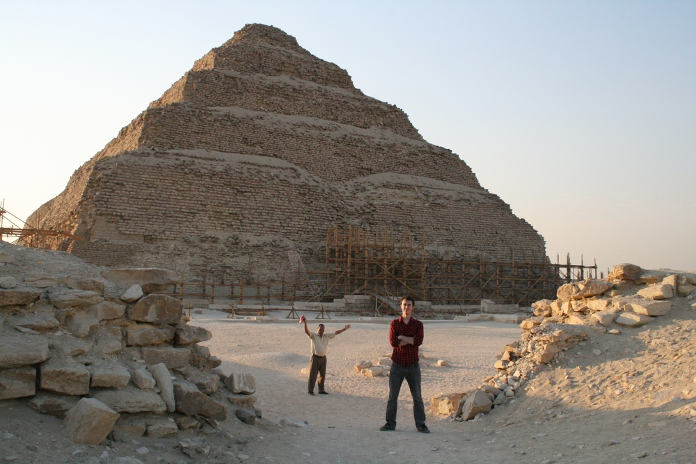 Jason at the Pyramid of Djoser, Saqqara Necropolis, Egypt