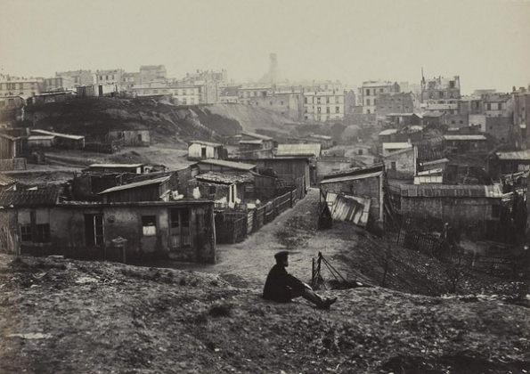 Top of the rue Champlain (View to the Right) (20th arrondissement), 1877–1878 (source) Musée Carnavalet, Paris Image © Charles Marville / Musée Carnavalet / Roger-Viollet