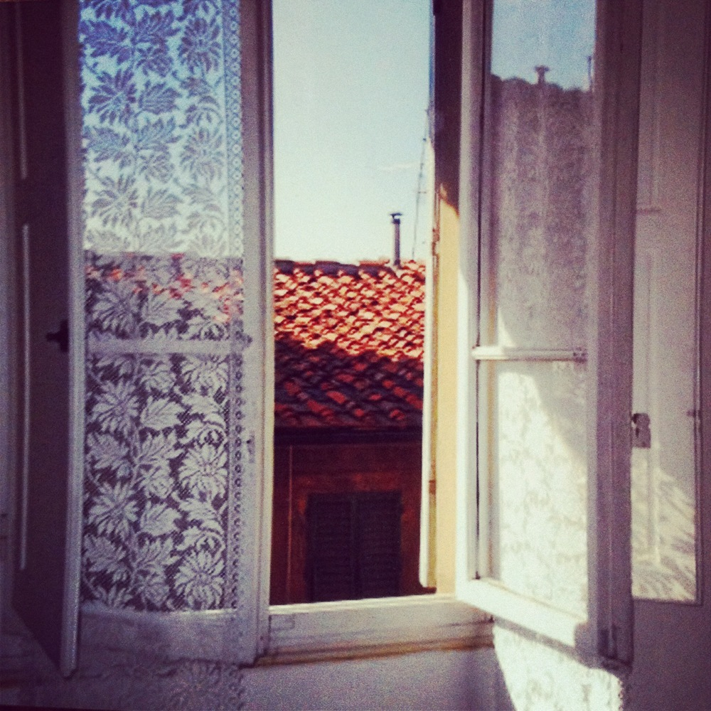 The view out our apartment window in Florence, Italy, many years ago.