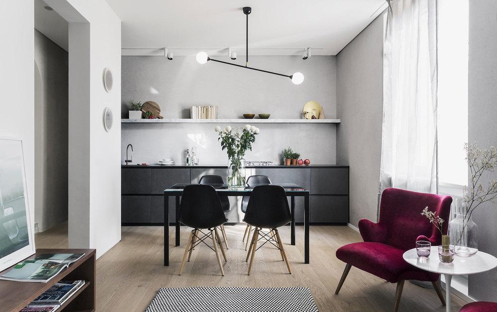 Two Spheres Pendant In Milan Apartment ARETI