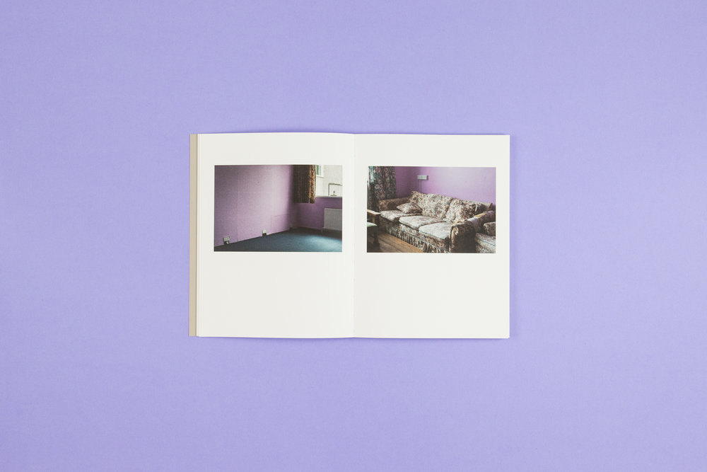 Book spread from 'A Bower for Sisters' by Aisling O'Rourke. Self-published photobook with photography by Aisling O'Rourke and designed by Read That Image.