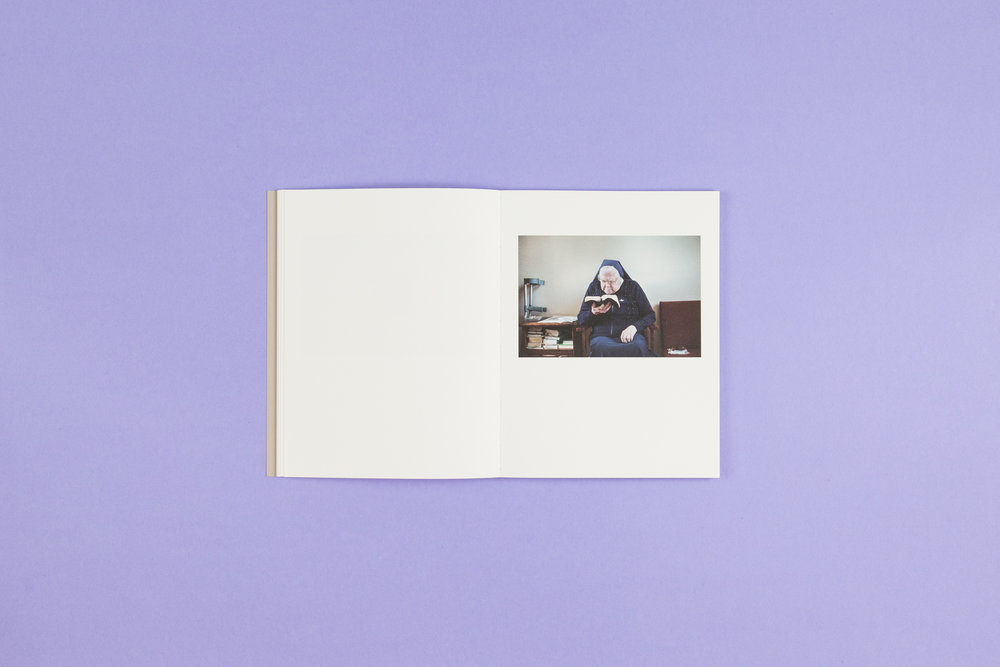 Book spread from 'A Bower for Sisters' by Aisling O'Rourke, a self-published photobook with photography by Aisling O'Rourke and designed by Read That Image.