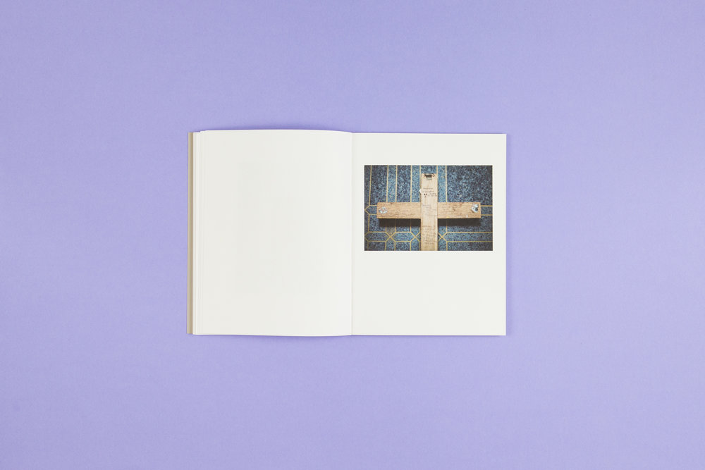 Book spread from 'A Bower for Sisters' by Aisling O'Rourke, self-published photobook with photography by Aisling O'Rourke and designed by Read That Image.
