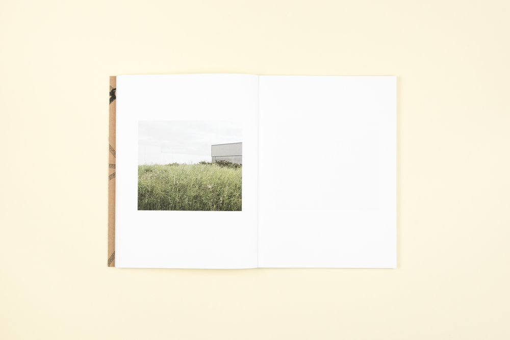Book spread from self-published photobook 'Midlands' featuring photography by Martin Cregg and design by Read That Image.