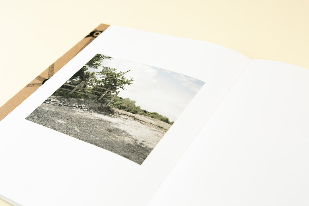 Detail of self-published photobook 'Midlands' featuring photography by Martin Cregg and design by Read That Image.