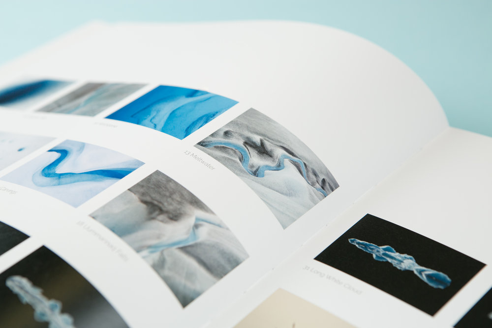 Detail of self-published photobook 'Out of Thin Air' featuring photography by Daragh Muldowney and design by Read That Image.