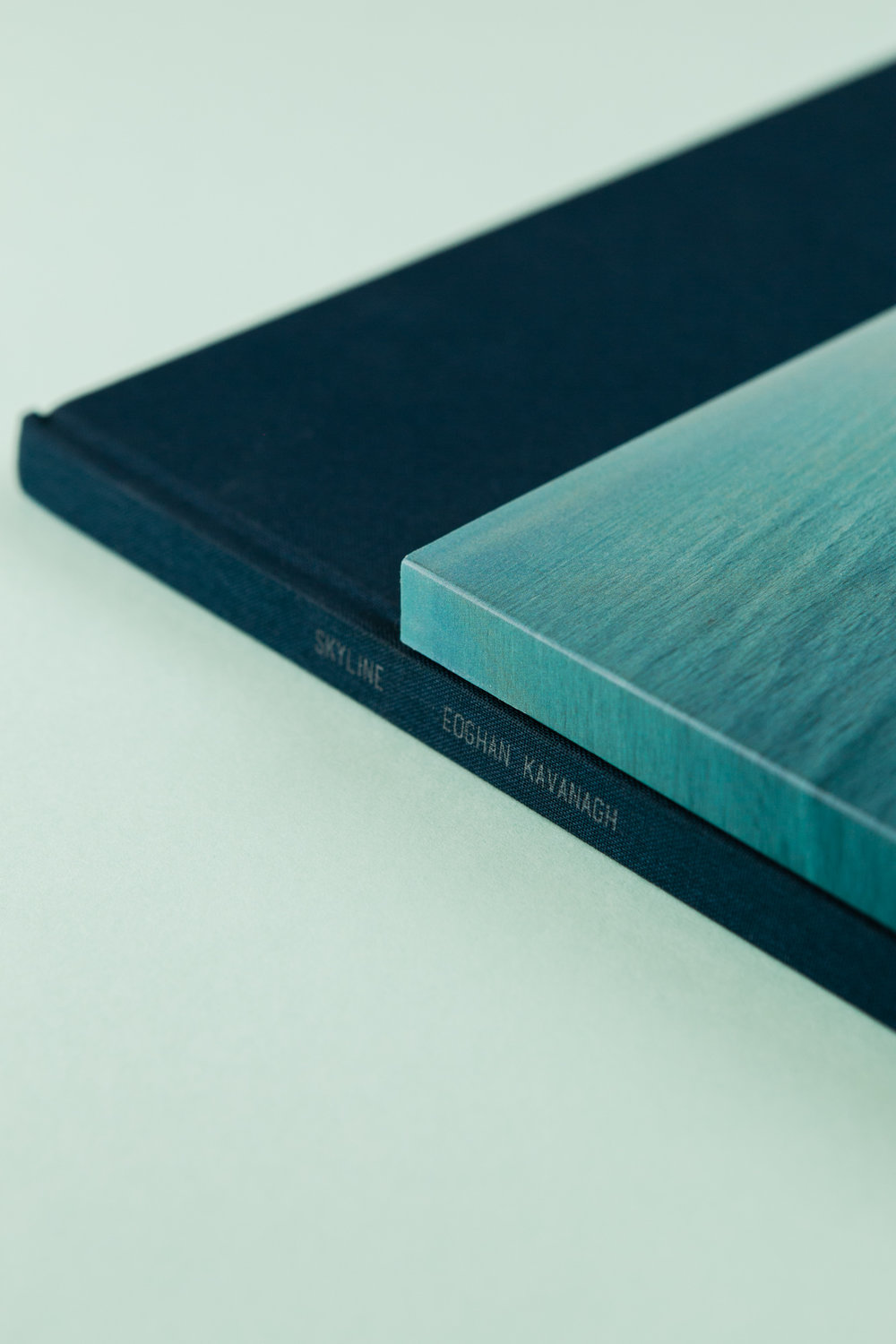Detail of self-published photobook 'Skyline' featuring photography by Eoghan Kavanagh and design by Read That Image