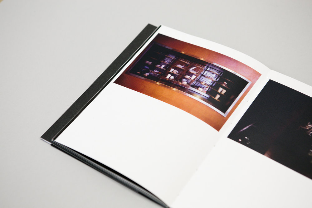Conor McMahon's photobook dummy 'Hohlweltlehre' created during a Make a Photobook workshop with the Read That Image team in Dublin, Ireland.