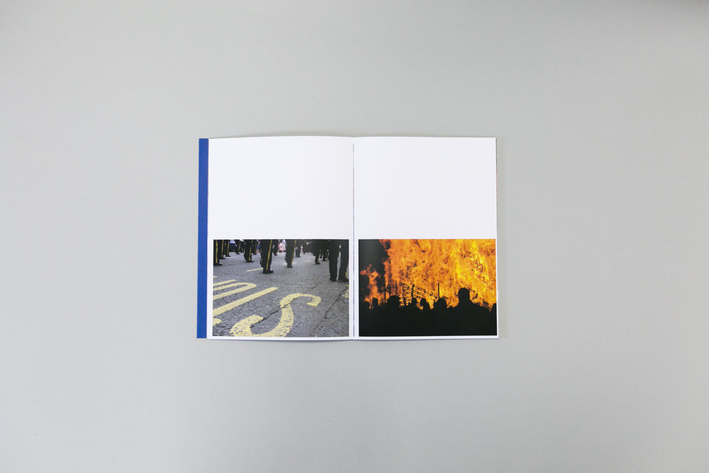 George Robb's photobook dummy 'You Only See Daffodil's Coming in the Spring' created during a Make a Photobook workshop with the Read That Image team in Dublin, Ireland.