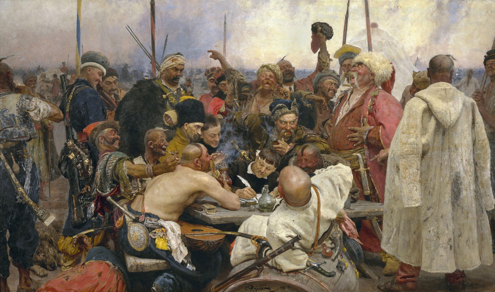 REPIN,The Zaporozhye Cossacks Replying to the Sultan
