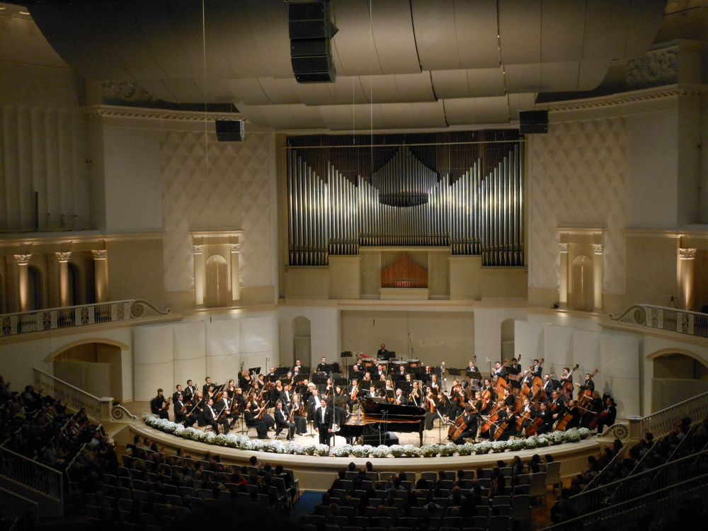 Moscow Philharmonic orchestra on the last night